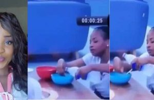 BBNaija 2019: Cindy seen washing her hand in her food bowl (video)