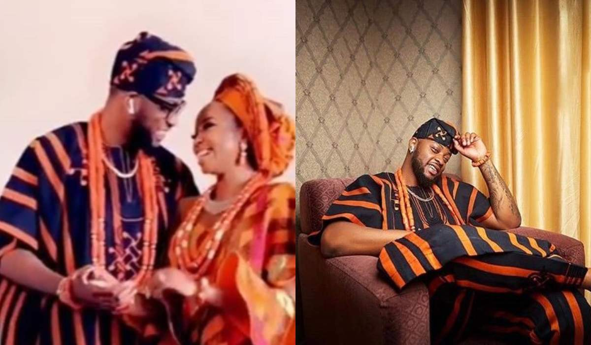 Nigerians blast Teddy A for wearing Air Pods on his wedding day