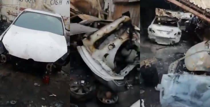 Image result for Xenophobia: South Africans set properties owned by Nigerians on fire