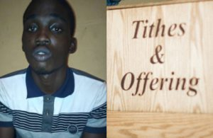 18-year-old arrested for stealing Tithes and Offerings in a church in Lagos (photo)