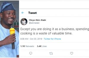 "Image result for ""Spending hours cooking is a waste of valuable time"" – Akin Alabi says"""