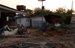 Kwara state government destroys Saraki family property, Ile Arugbo