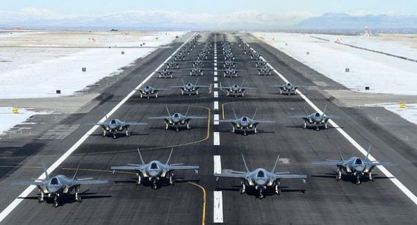 US release 52 stealth fighter jets into air to warn Iran lailasnews