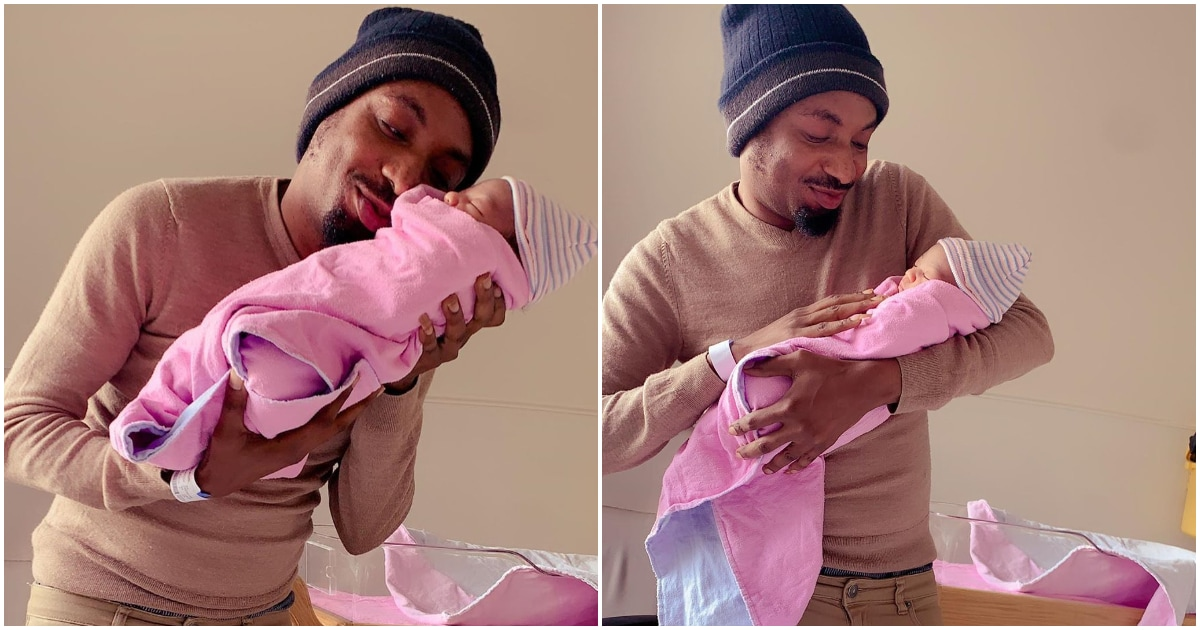 Nollywood Actor Korede Wealth Obasan and wife welcome new baby girl