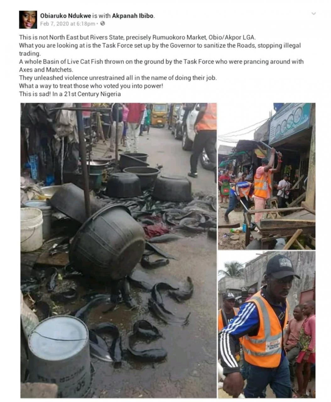 view more Rivers State Task Force Pulls Down Illegal Market