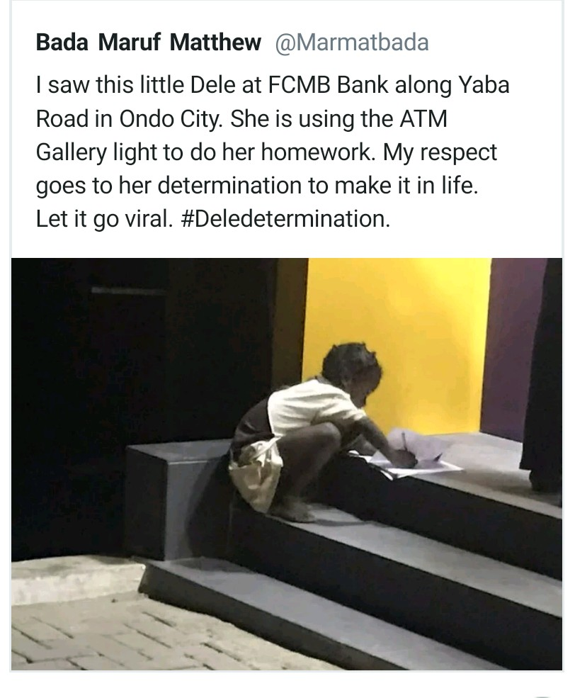 Girl Who Used ATM Light To Write Her Assignment